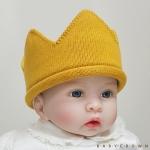 [Baby Crown] 베이비크라운 아기 니트 왕관 모자 (골드)