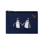 penguin card pouch