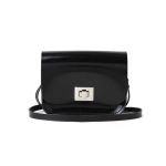 Patent Pitch Black Small Pixie Bag