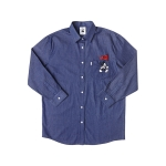 WOMENS MICKEY DENIM SHIRTS (MEDIUM INDIGO)