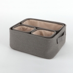 Cotton basket 4set - 01 Dark gray