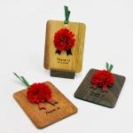 원목 감사카드(사각/컬러랜덤)