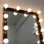 벨로 다크브라운 조명거울