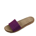 Color stripe fabric slippers_KM15s231