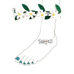 [스무치] 발찌 - Daisy and Leaf Anklet