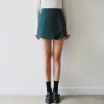 Minimal wrap culotte pants