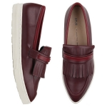 SPUR[스퍼] 슬립온 HF8042 Fringe pointy slip-on 와인