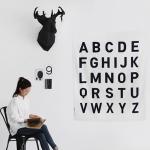 [Fabric]Simple Mono The Alphabet Big Cut Linen