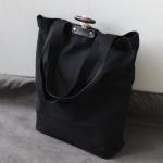 Canvas Toggle Bag - Black