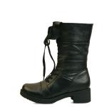 천연가죽 Lace up fur half boots_KM15w248