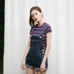 denim overall shorts (3colors)