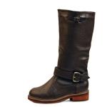 Belted dandy fur half boots_KM15w300