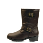 Double belted fur half boots_KM15w316