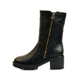 6cm heel side zipper fur half boots_KM15w319