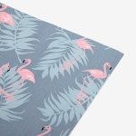 Fabric sticker - 99 Charming : flamingo