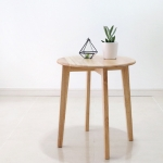 [벤트리] 원목 원형 사이드 테이블 (미니테이블)
