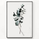 메탈 북유럽 식물 인테리어 포스터 액자 드라이 유칼립투스