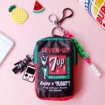 토이 키링-7UP 미니 파우치(블랙)