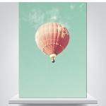 핑크 열기구 - 감성사진 폼보드 액자