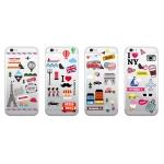 [TryCozy]트래블 아이콘 젤리 케이스 - 아이폰
