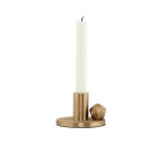 [House doctor] Candle stand, The Ball, Brass plated