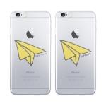 [커스텀] 종이비행기 투명 소프트 케이스 - 아이폰시리즈