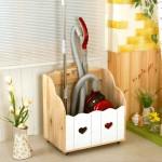 원목 이동식 청소기보관함 청소도구함(HS093)