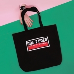 DIM. E CRES. SQUARE LOGO ECO BAG_BLACK