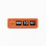 [트웸코] 캘린더 탁상시계 BQ-38 (orange)
