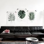 패브릭 포스터 식물 꽃 그림 인테리어 소품 (액자 미포함)