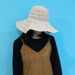 Simple straw summer hat