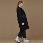 [Tea Please] Wool Single Coat(Black)_(454105)
