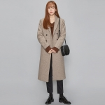minimal straight double long coat (3 colors)_(440340)