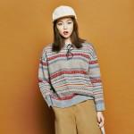 [유라고]Snow jaccard round knit
