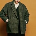 [유라고]Herringbone Collar short coat