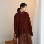 Loose color v-knit