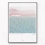 메탈 모던 바다 풍경 사진 인테리어 액자 파도