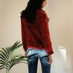 Feminine flower blouse