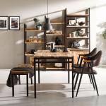 아이언브릿지 A 4인용 식탁세트 (벤치/의자 포함)