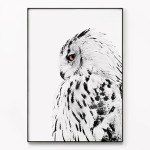 메탈 북유럽 부엉이 풍수지리 인테리어 액자 White owl