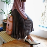 Crease soft pleats skirt