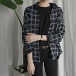 빈티지 체크 루즈핏 셔츠 (3-COLORS)