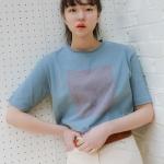 [유라고]레터링 라운드 티셔츠