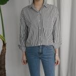 루즈핏 스트라이프 셔츠 (2-COLORS)