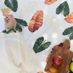 엘레나하임 양면방수 피크닉매트-트로픽리프 오렌지 L에코백세트