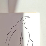 shy woman 모던 시크 일러스트 포스터