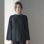 Flared Sleeve Blouse - Black