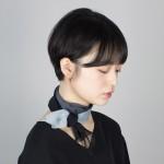 gradation silk mini scarf