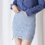 [마이블린] 슬림 꽃 레이스 미니 스커트 (4color)_(482523)