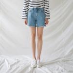 Basic daily denim shorts